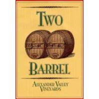 Alexander Valley Vineyards Two Barrel Syrah Cabernet Sauvignon 2001