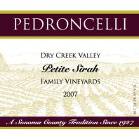 Pedroncelli Dry Creek Valley Family Vineyards Petite Sirah 2007