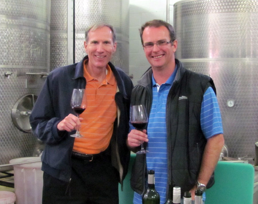 Don with David Finlayson of Edgebaston Wines in South Africa's Western Cape