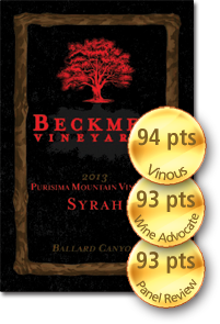 Beckmen Purisima Mountain Vineyard Ballard Canyon Syrah 2013